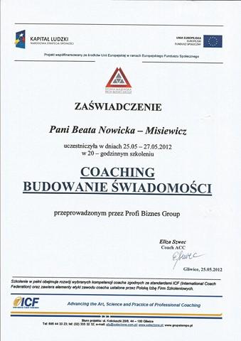 Coaching - Budowanie Świadomości