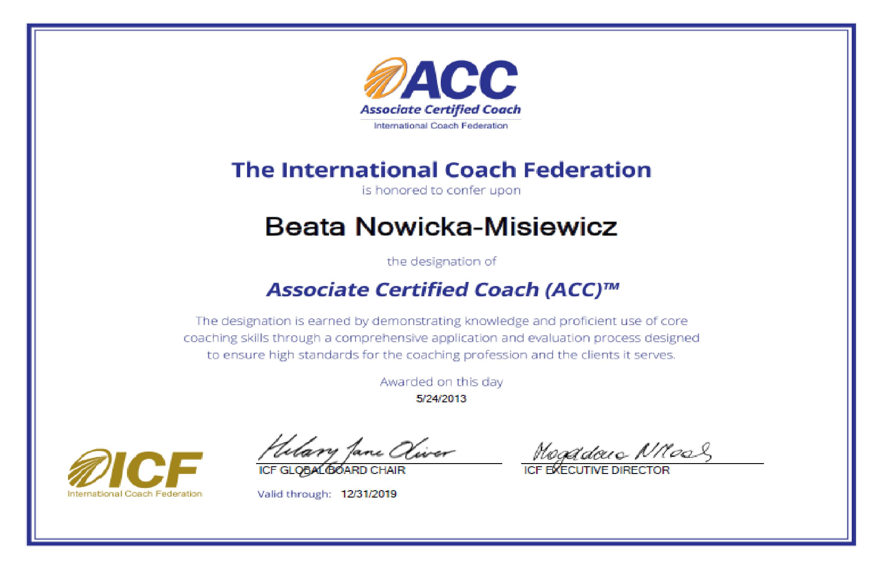 ACC ICF
